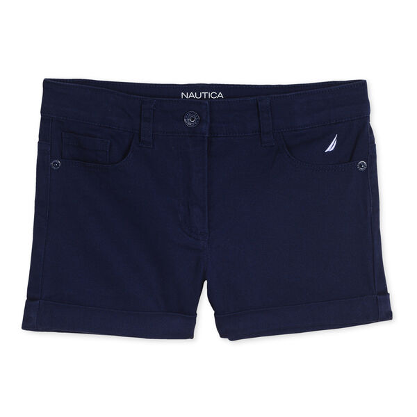 Girls' Stretch Twill Shorts - Navy