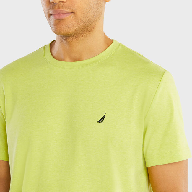 Crewneck Sleep T-Shirt,Tropic Lime,large