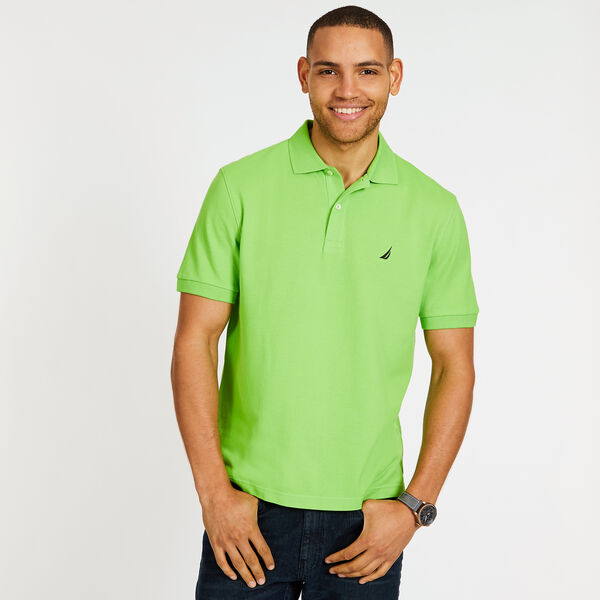 CLASSIC FIT PERFORMANCE PIQUE POLO - Lime Surf