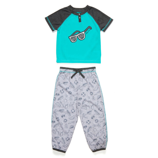 Toddler Boys' Made in the Shade PJ Pants Set (2T-4T),Big Sur Green,large