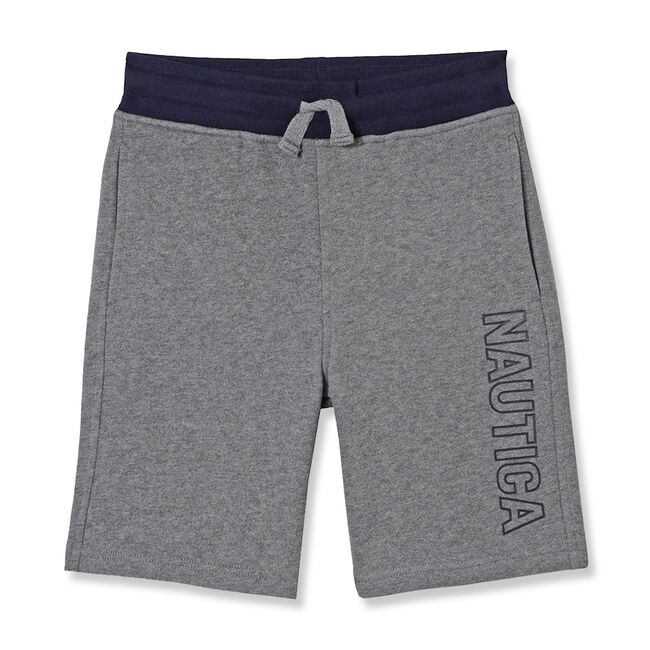 Boys' Logan Pull-On Shorts,Gunmetal Grey,large