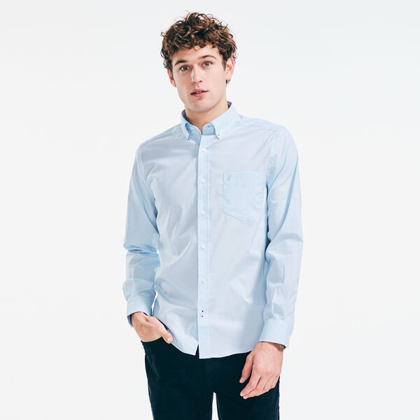 CLASSIC FIT WRINKLE-RESISTANT SOLID SHIRT - Azure Blue