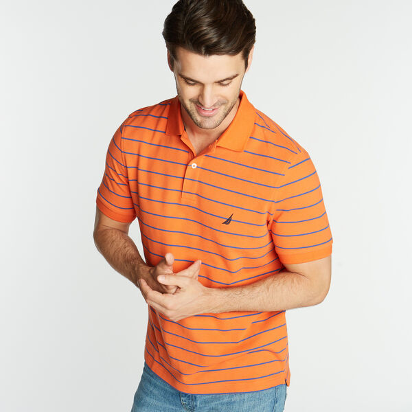 CLASSIC FIT STRIPE DECK POLO - Rustic Sunset
