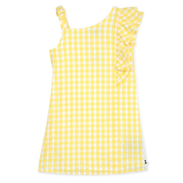 Girls' Sleeveless Gingham Dress (8-20) - Light Yellow
