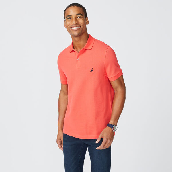SLIM FIT DECK POLO - Seaside Red