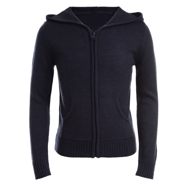 GIRLS' SWEATER HOODIE (PLUS SIZES) - Crystal Bay Blue