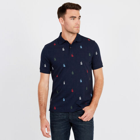 Spinnaker Short Sleeve Classic Fit Polo - Navy