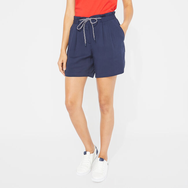 Nautica Pleated High Waist Shorts