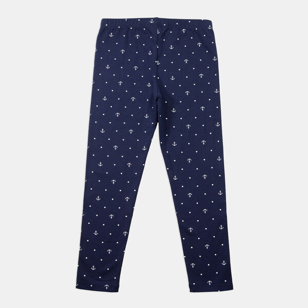 LITTLE GIRLS' ANCHOR AND DOT PRINT LEGGING (4-7) - Navy