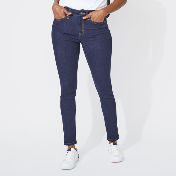 NAUTICA JEANS CO. MID RISE SKINNY DENIM IN NAVY NIGHT WASH - Aqua Isle