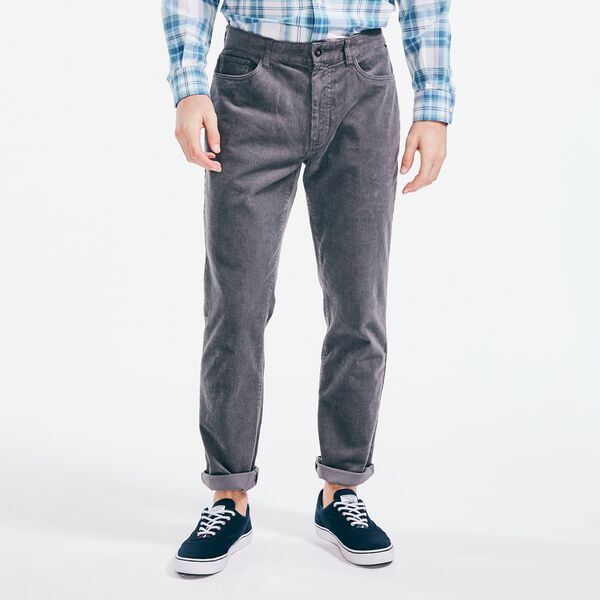 STRAIGHT FIT CORDUROY PANT - Blue Yonder Heather