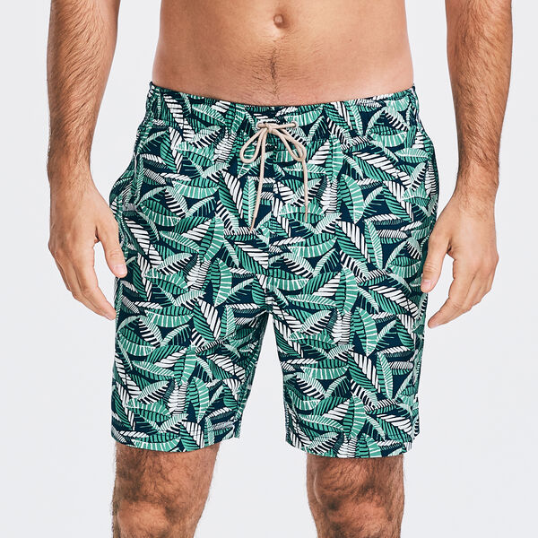 """8"""" SUSTAINABLY CRAFTED NAVTECH FOLIAGE PRINT SWIM SHORT - Blue Depths"""