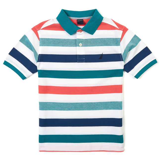 c2a7e69cae6071 Boys' Short Sleeve Striped Polo Shirt (8-16),Mahogany,large ...