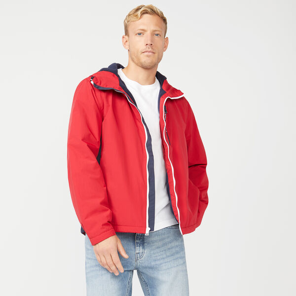 FLEECE LINED HOODED JACKET - Nautica Red