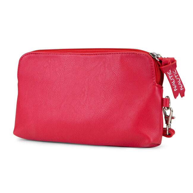 Power Sailing Wristlet with Battery Charger,Nautica Red,large