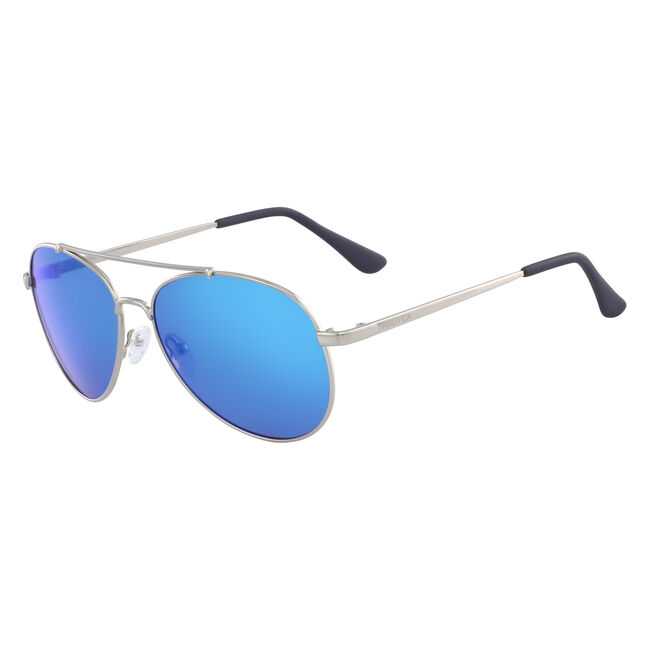 Aviator Sunglasses with Silver Frame,Castlerock Grey,large