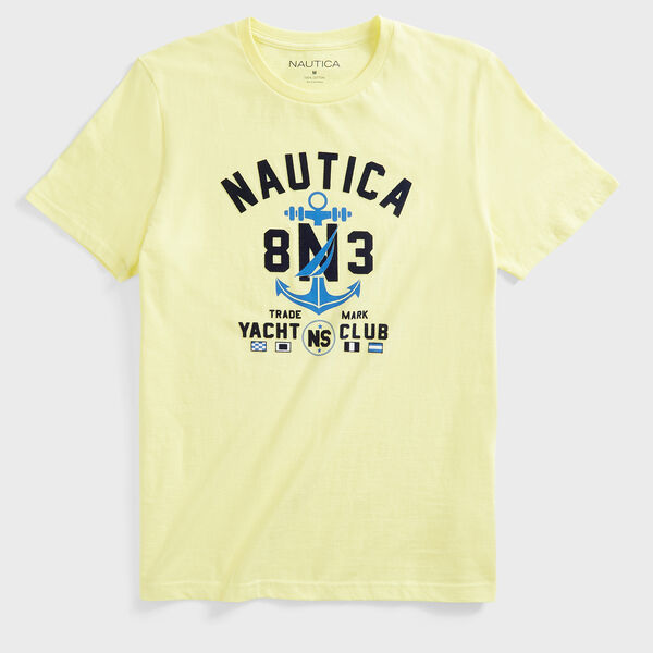 ANCHOR LOGO GRAPHIC T-SHIRT - Dusty Honey Gold