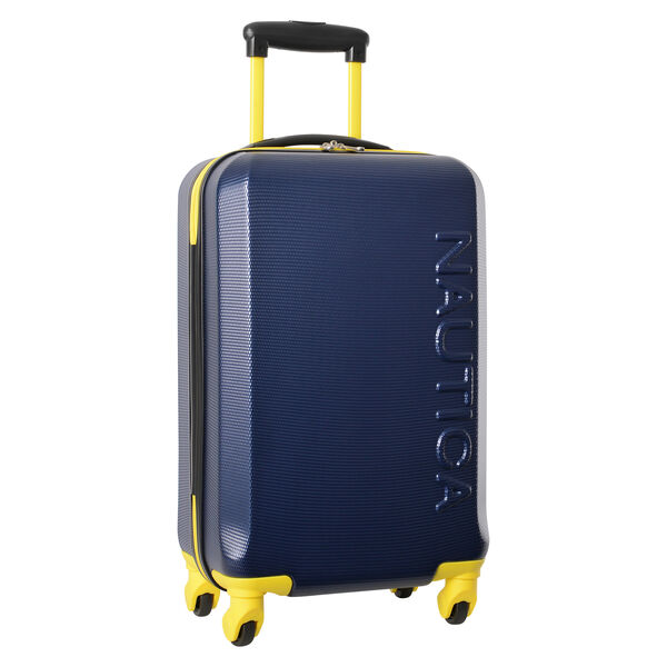 "Marina 20"" Hardside Spinner Luggage in Navy/Yellow - Pure Dark Pacific Wash"