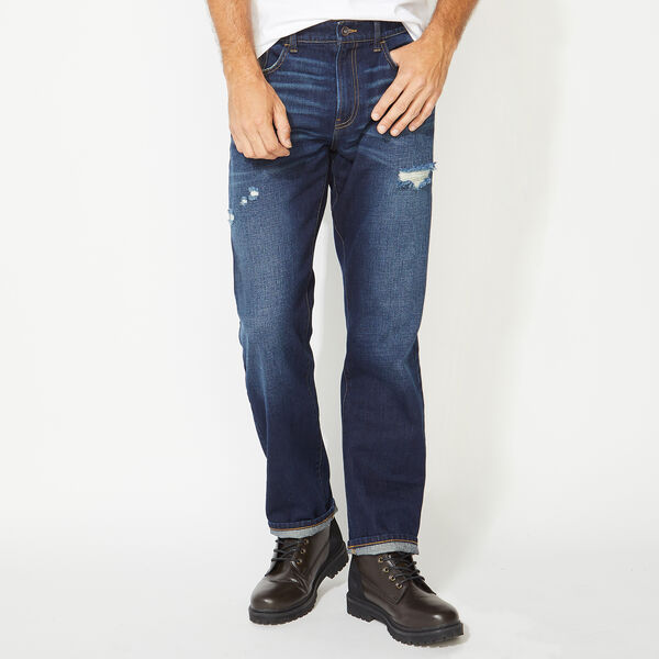 NAUTICA JEANS CO. RELAXED FIT DENIM IN HATCH BLUE - Crest Blue