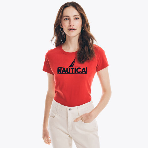 SUSTAINABLY CRAFTED LOGO GRAPHIC T-SHIRT - Tomales Red