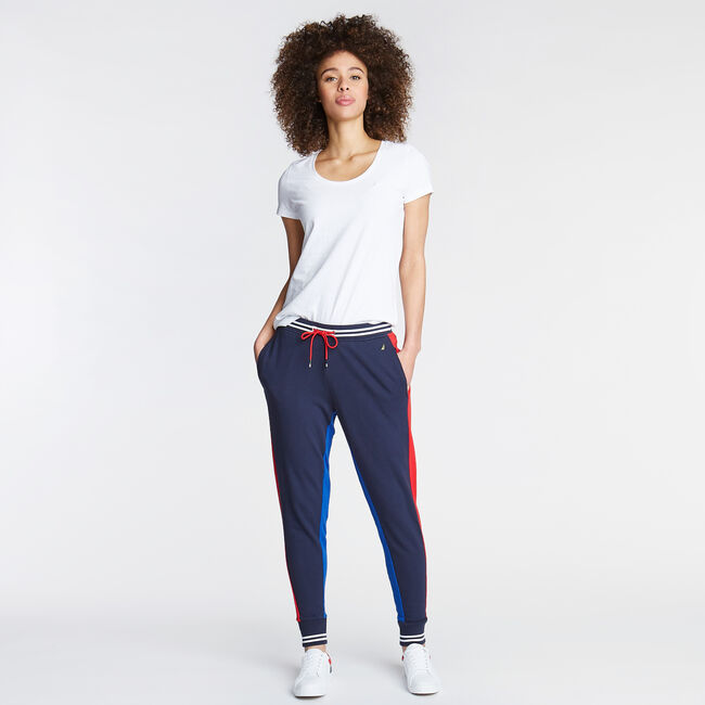 FRENCH TERRY JOGGER,Stellar Blue Heather,large