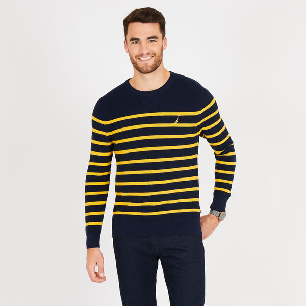 Navtech Breton Stripe Crewneck Sweater - Sunfish