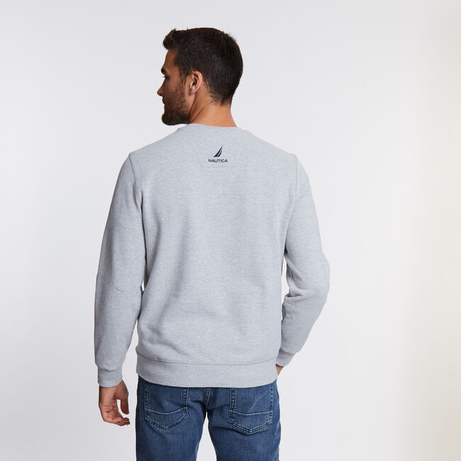 J-Class Logo Sweatshirt,Grey Heather,large