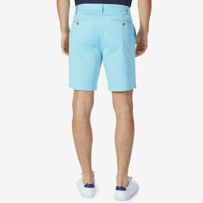 Big & Tall Flat Front Classic Fit Deck Shorts,Angel Blue,large