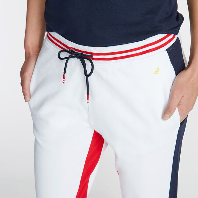 FRENCH TERRY JOGGER,Bright White,large