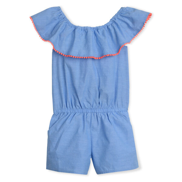 GIRLS' CHAMBRAY ROMPER (8-20) - Peacoat