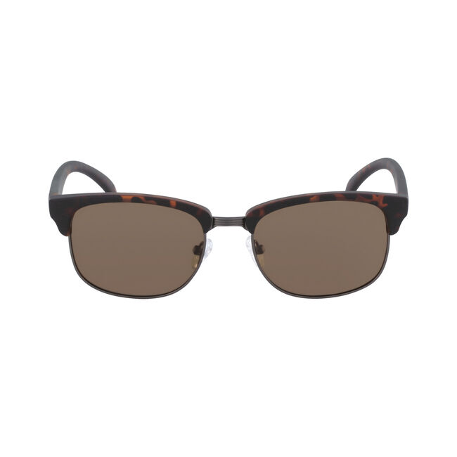 Iconic Clubmaster Sunglasses with Tortoise Frame,Matte Dark Tortoise,large