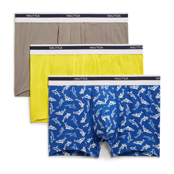 Stretch Trunks, 3-Pack - Fog Heather