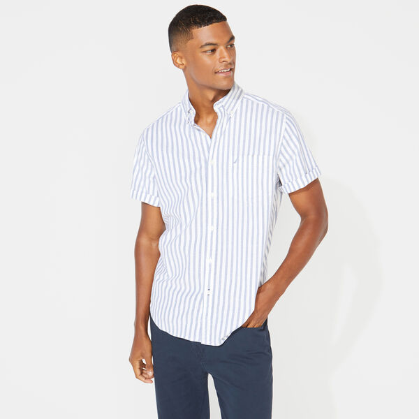 CLASSIC FIT STRIPED OXFORD SHIRT - Limoges