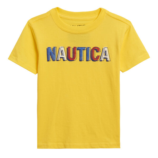 LITTLE BOYS' MULTICOLOR LOGO GRAPHIC T-SHIRT (4-7) - Marigold