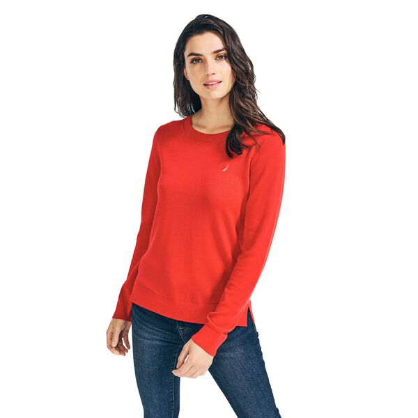 CLASSIC FIT CREW NECK SWEATER - Tomales Red