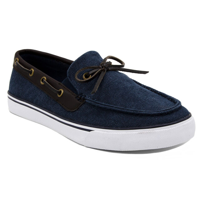 Baisden Boat Shoe in Navy,Navy,large