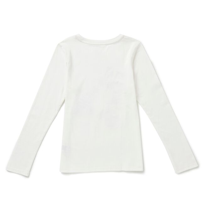 Toddler Girls' Stay Cool Long Sleeve Tee (2T-3T),Bright White,large