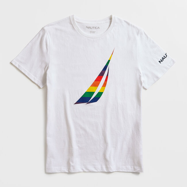 PRIDE LOGO GRAPHIC T-SHIRT,Bright White,large