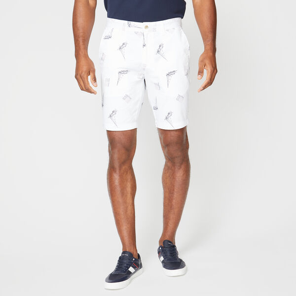 "9.5"" SLIM FIT BOAT 83 PRINT SHORT - Bright White"