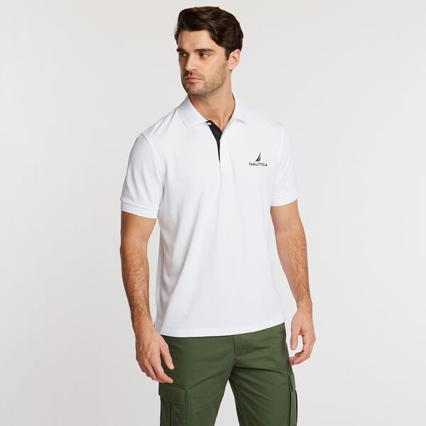 Classic Fit Solid Navtech Polo - Bright White