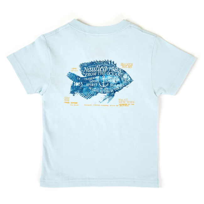 Little Boys' Ashton Fish Back Graphic Tee (4-7),Naval Blue,large