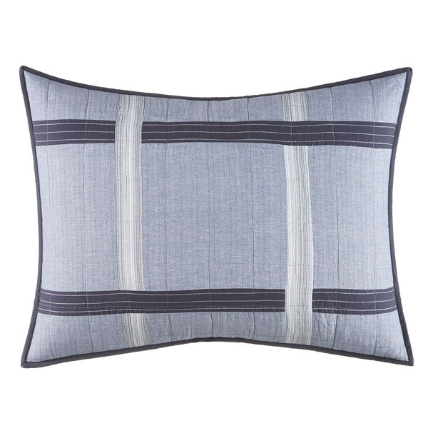 River Breeze Gray Standard Sham - Capri Blue