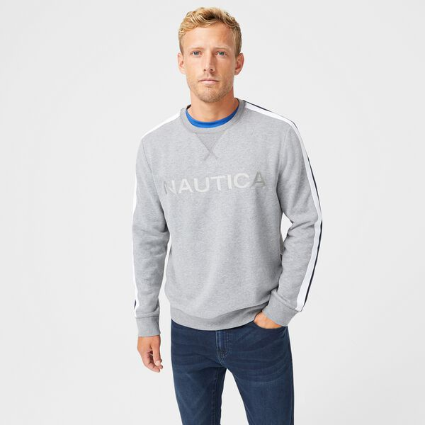 LOGO FLEECE SWEATSHIRT - Stone Grey Heather