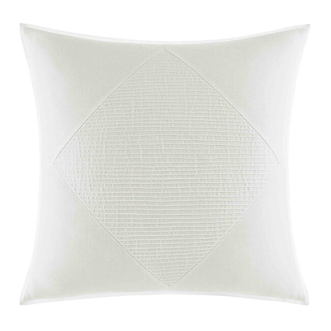 Bronwell Pieced Pintuck Large Square Pillow in Ivory,Ivory,large