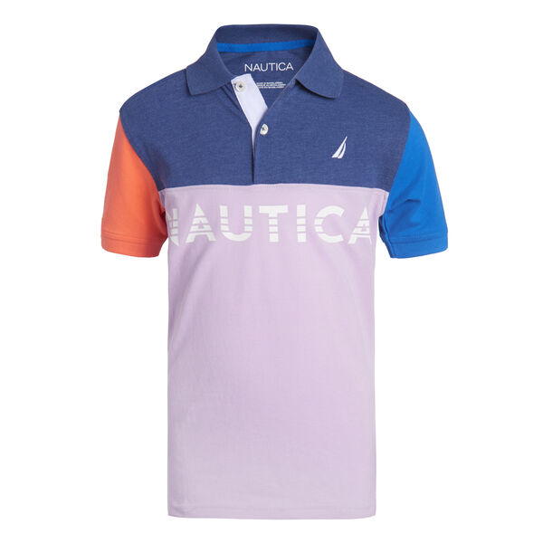 BOYS' SEABREEZE COLORBLOCK HERITAGE POLO - Guppy Grape
