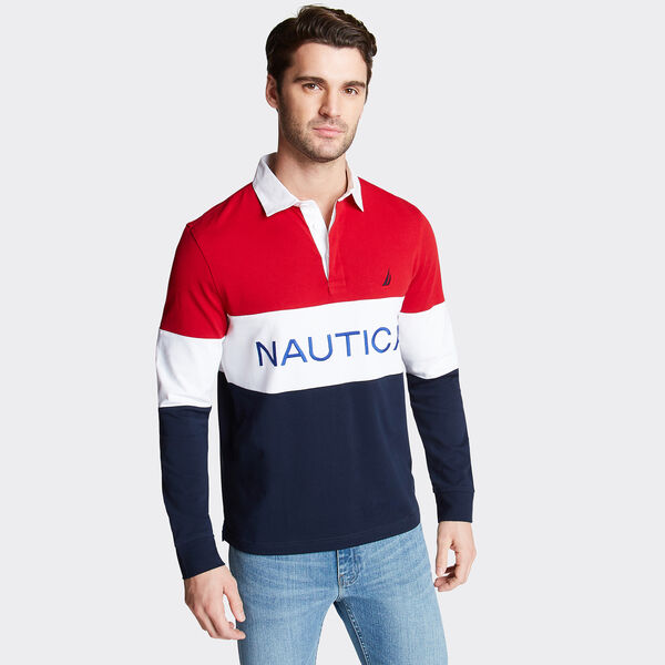 Long Sleeve Performance Polo - Nautica Red