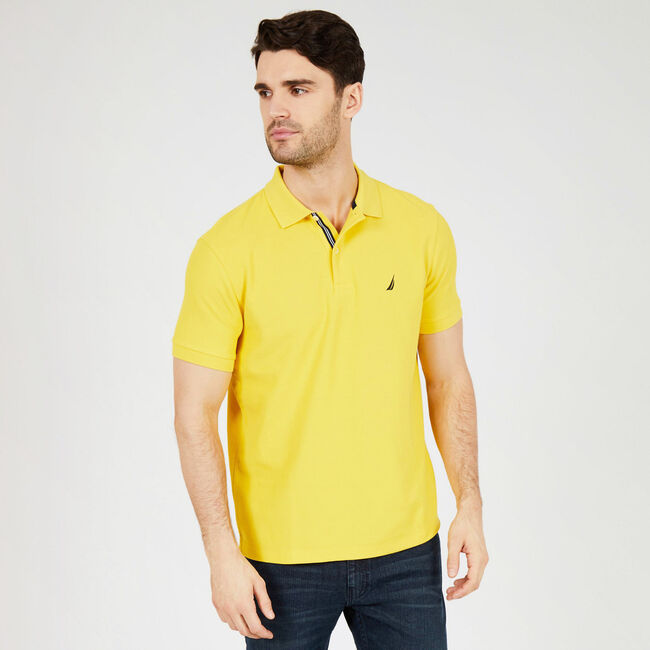 Classic Fit Performance Mesh Polo,Buoy Yellow,large