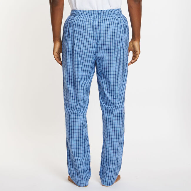 Plaid Pajama Pants,Blue Grass,large