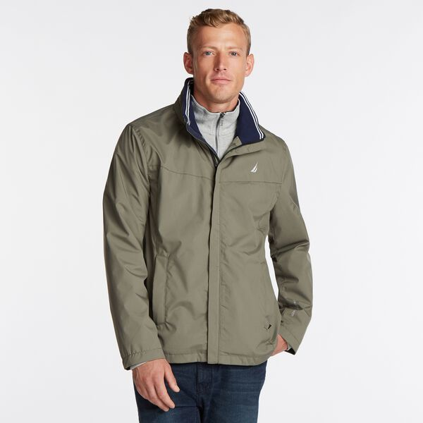 Classic Bomber With Packable Hood - Hillside Olive