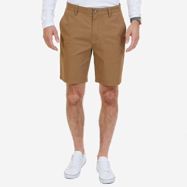 Classic Fit Flat Front Deck Shorts - Oyster Brown